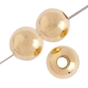 Metal Beads Round 5mm Gold